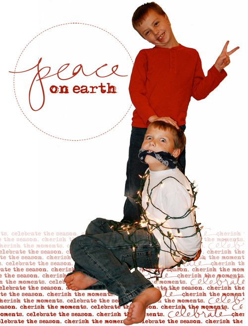 Christmas Card 2008 Peace